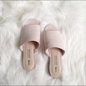 Nude light pink sandals